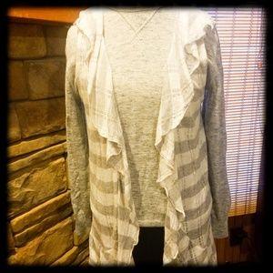 Maurices Women's Grey & White Vest